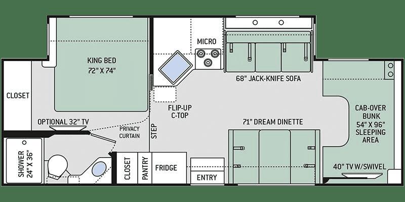 2020 Thor Chateau 27R Floor Plan