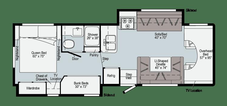 2021 Winnebago 31H Floor Plan